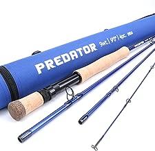 M MAXIMUMCATCH Maxcatch Predator Saltwater Fly Fishing Rod: 9ft, 4-Piece, 8/9/10/12 Weight