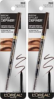 L'Oreal Paris Makeup Brow Stylist Definer Waterproof Eyebrow Pencil, Ultra-Fine Mechanical...