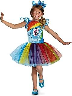 Hasbro's My Little Pony Rainbow Dash Tutu Prestige Girls Costume, Medium/7-8