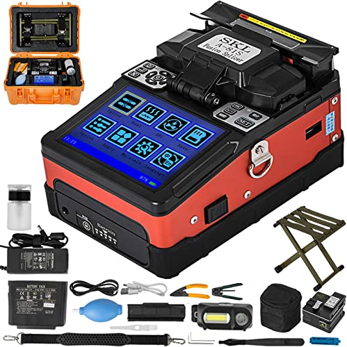 discount Mophorn Fiber Fusion Splicer Automatic Focus A-81S FTTH Fiber Precision Optical high quality Fusion Splicer Kit 5 Inch TFT Digital LCD Screen Fusion Splicer Machine Optical sale Fiber Cleaver Kit online sale