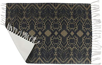 Bless International PET Home and Kitchen Rug Vintage Non Accent Area Carpet for Kids and Living Room,Home Decor,Picnic,Travel, (Dark Gold Vintage Elements)