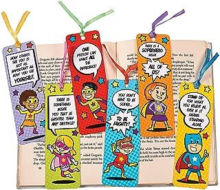 Fun Express 48 ~ Superhero Laminated Bookmarks ~ Size: 2