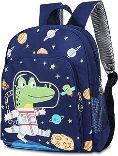 Mochila infantil para guardería, mochila preescolar, mochila de dibujos animados, mochila de dinosaurios, mochila para bebé, niña, niño, 2-5 años, color azul