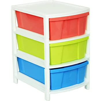 Aristo Multipurpose 3 Drawer Plastic Modular Chest Storage Organizer