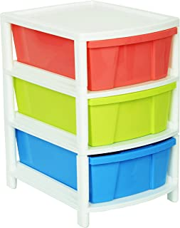 ARISTO Everest Multipurpose 3 Drawer Plastic Modular Chest Storage Organizer, multicolour, Standard (Everest3)