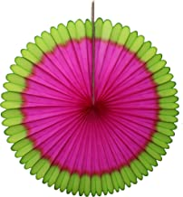product image for 3-pack Watermelon Themed 13 Inch Tissue Paper Party Fan Decoration (Lime/Cerise)
