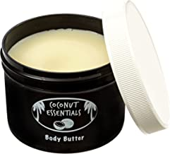 Organic Moisturizer Body Butter - Coconut Oil, Vitamin E, Shea, Peppermint, Almond, Cocoa and Sunflower - for Beautiful and Glowing Skin!! 8 oz