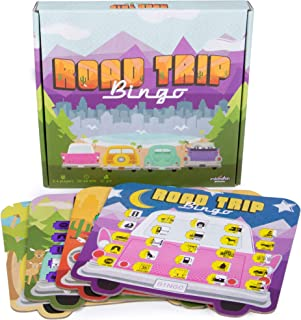 Road Trip Bingo - Road Trip Travelling Bingo Game for Families and Kids on Road Trips and Vacations - 4 Compact Bingo Boards for Easy Travel