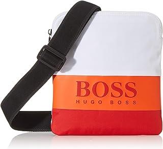 BOSS - Pixel St_s Zip Env, Bolso de mano Hombre, Rojo (Red), 1x23.5x19.5 cm (B x H T)