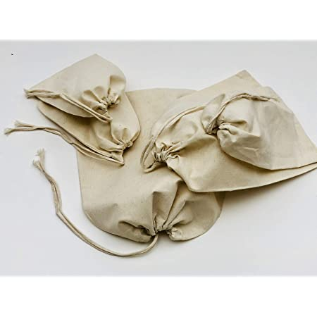 10x12 Inches Cotton Muslin Bags Reusable Premium Quality Cotton Muslin Bags 100/% Organic Cotton Single Drawstring Bags