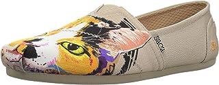 حذاء باليه مسطح من قماش مخملي للسيدات من سكيتشرز