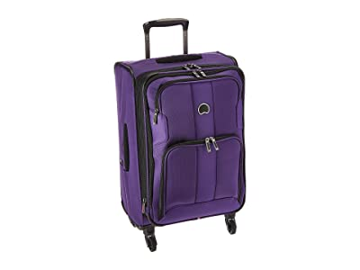 Delsey Sky Max Expandable Spinner Carry-On (Purple) Luggage