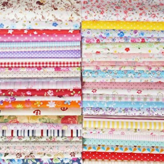 Quilting Fabric, Misscrafts Cotton Craft Fabric Bundle Squares Patchwork Pre-Cut Quilt Squares for DIY Sewing Scrapbooking Quilting Dot Pattern (50PCS 20X20cm)