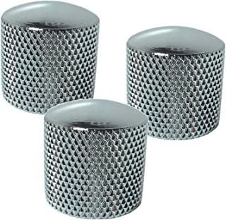 Chrome Dome Knobs - Polished Metal For Bass or Guitar Set of 3
