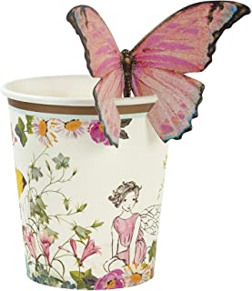 Talking Tables Truly Fairy Paper Cups with Butterfly Detail 12 Pieces