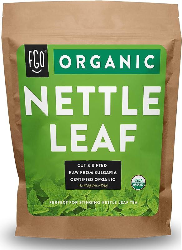 Organic Nettle Leaf Herbal Tea 200 Cups Cut Sifted 16oz Resealable Bag 100 Raw From Bulgaria By Feel Good Organics