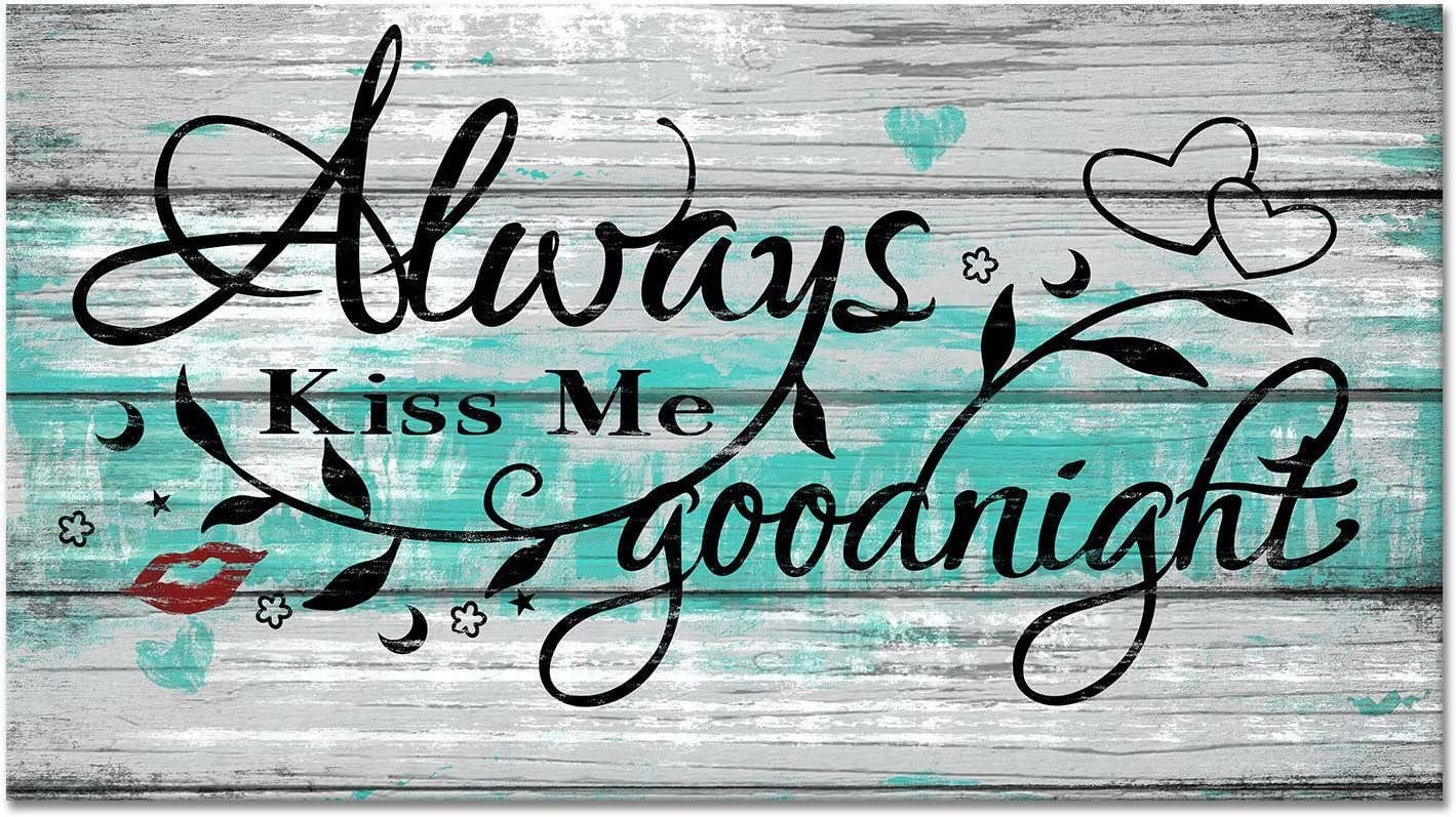 sechars Bedroom Quotes Wall Decor Me Always Goodnight Virginia Beach Mall famous Kiss