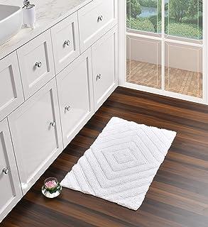 UMI by Amazon - Alfombra de baño (100% algodón tacto lujoso extra absorbente y suave para colocar en la parte delantera...