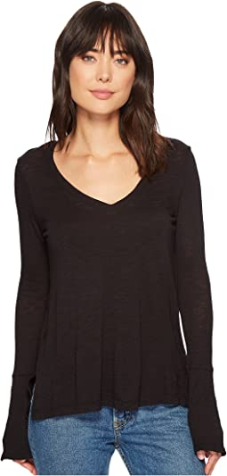 Splendid - V-Neck Long Sleeve T-Shirt