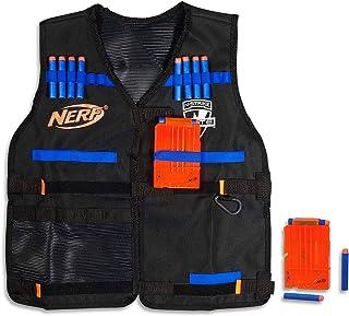 Nerf Elite - Tactical Vest inc 12 Official Elite Darts & 2 Blaster Clips - Kids Toys & Outdoor Games - Ages 8+