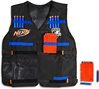 Nerf Elite - Tactical Vest inc 12 Official Elite Darts & 2 Blaster Clips - Kids Toys & Outdoor Games - Ages 8+