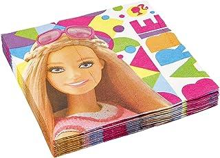 Amscan 999887 33 cm serwetki obiadowe Barbie Sparkle