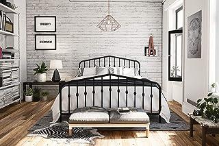 Novogratz Bushwick Metal Bed, Queen, Black