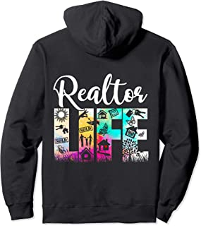Realtor Real Estate Agent Business Gifts Funny Realtor Life Pullover Hoodie