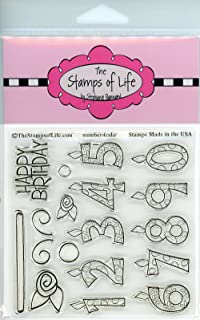 Happy Birthday Stamps for Card-Making and Scrapbooking Supplies by The Stamps of Life - Candle-Numbers