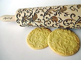 Nudelholz ROYAL für Hausgemachtes Gebäck. Teigroller mit königlich Muster von Algis Crafts mit Liebe