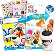 Secret Life of Pets Coloring Book Set -- Mess-Free Imagine Ink Book, Play Pack, and Bonus Pets Stickers (Pets Party Supplies)