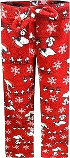 Women's Snoopy Christmas Red Plush Lounge Pants