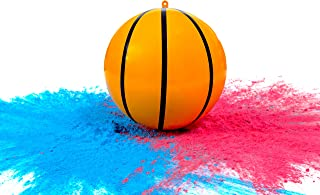 Gender Reveal Basketball with Powder | Exploding Basketballs Kit | Includes Pink and Blue Color Packs + Basketball Shell