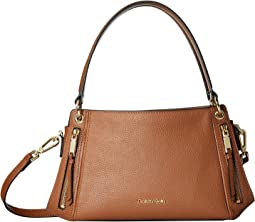 Melanie Pebble Leather Satchel