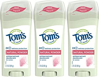 Tom's of Maine Women's Antiperspirant Deodorant Stick, Deodorant for Women, Antiperspirant for Women, Natural Powder, 2.25...