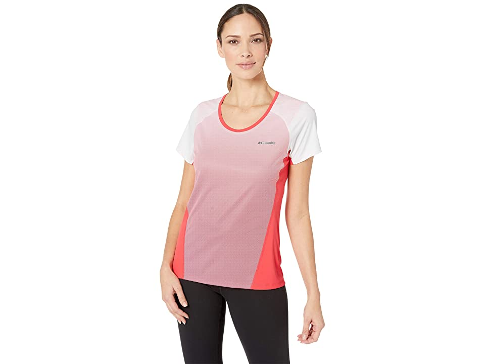 Columbia Solar Chilltm 2.0 Short Sleeve Shirt (Red Coral) Women