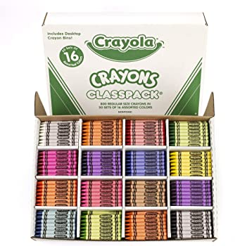 Crayola Classpack Assortment 800 Regular Size Crayons