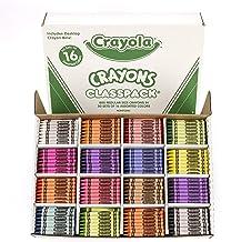 Crayola Crayon Classpack, School Supplies, 16 Colors (50 Each), 800 Ct, Standard