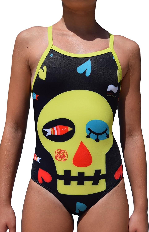 Swimgo Skull Design Badeanzug Training für Kinder, mit Totenkopf-Motiv