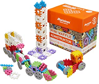 ECR4Kids Waffle Blocks Mini Konstructors | 300 Piece Flexible Interlocking Block Set | Toddler Sensory Toy for Creative and Collaborative Playtime | Ages 3+ (300 Pieces)