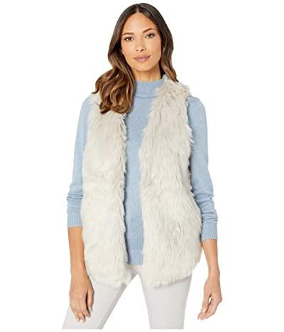 Dylan by True Grit Melange Heather Faux Fur Vest with Heather Knit Lining (Heather/Natural) Women