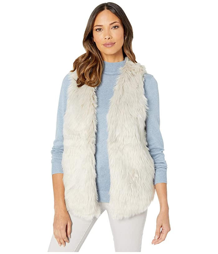 70s Jackets, Furs, Vests, Ponchos Dylan by True Grit Melange Heather Faux Fur Vest with Heather Knit Lining HeatherNatural Womens Clothing $55.20 AT vintagedancer.com