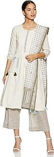 BIBA Women's synthetic a-line Salwar Suit Set