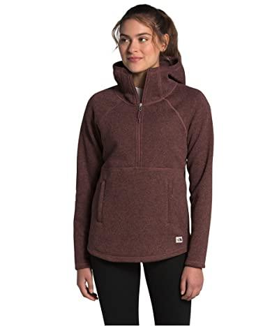 The North Face Crescent Hooded Pullover (Marron Purple Black Heather) Women