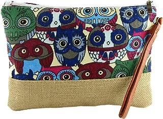 Zisla Clutch Bag für Frauen in Canvas, Hippie Ethno Purse Bag. 26 x 19 cm.