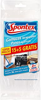 Spontex Gamuzas Atrapapolvo 20 Unidades, Pack de 1