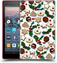 Official Micklyn Le Feuvre Christmas Treats and Cookies Holiday Patterns Soft Gel Case Compatible for Amazon Fire HD 8 (2017)