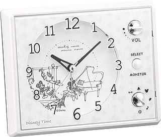 セイコー クロック 目覚まし時計 ミッキーマウス ミニーマウス アナログ マルチサウンドアラーム Disney Time ディズニータイム 白 パール FD478W SEIKO