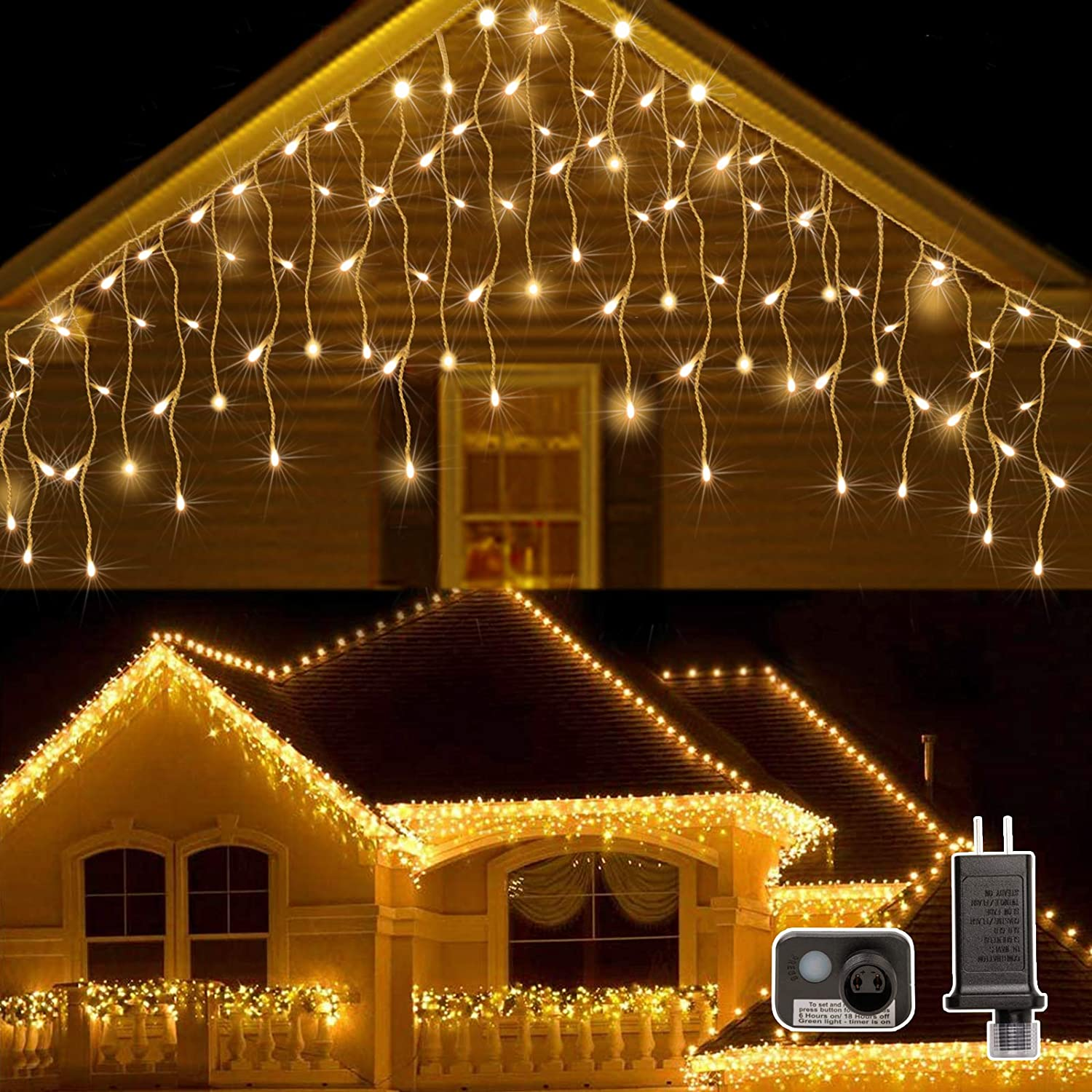 AWQ 400LED Max 49% OFF 32Ft Max 64% OFF Icicle Lights Light Christm Fairy Curtain