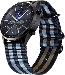 BarRan Watch Band Replacement for Samsung Galaxy Watch Active, 20mm Nylon Breathable Adjustable Quick Release Sport Replac...